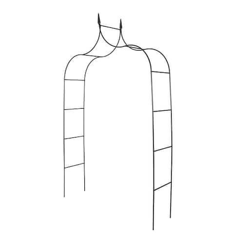 Kinbor Outdoor Metal Arch, Garden Arbor Trellis For Climbing Plants, Gothic Style, Patio Lawn Backyard 8'4 High x 4'6 Wide