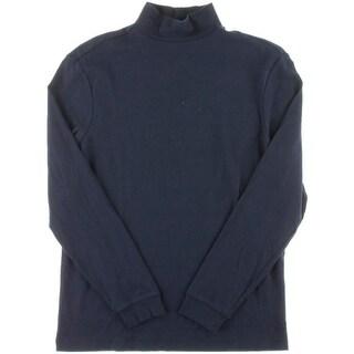 John Ashford Mens Cotton Mock-Neck Turtleneck Shirt