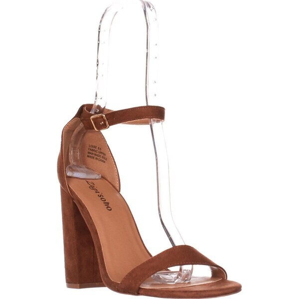 Zigi Soho Loise Ankle Strap Block Heel Sandals, Tan - 8.5 us