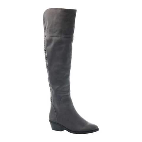 Madeline Women's Turf Over the Knee Boot Dark Grey Textile