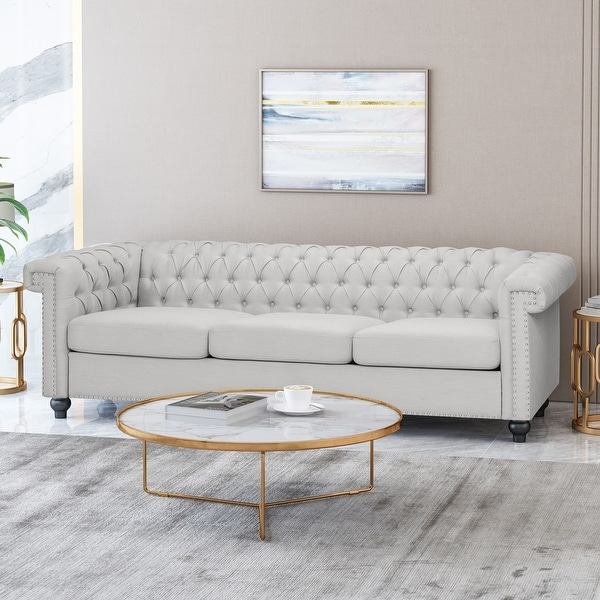 Parkhurst Tufted Chesterfield 3-seater Sofa by Christopher Knight Home. Opens flyout.