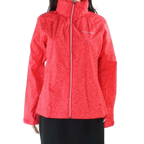 Columbia Women's Jacket Red Size Large L Switchback Tree Printed