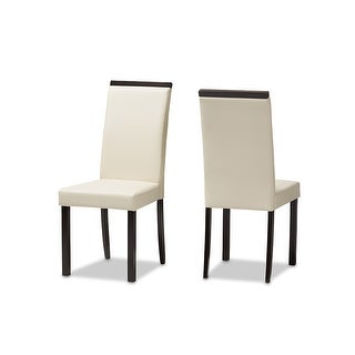 Daveney Cream Faux Leather Upholstered Dining Chair - 2pcs