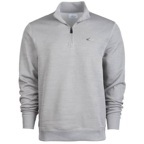 Greg Norman Mens Rapiwarm Sweatshirt, Grey, Small