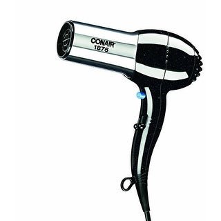 Conair 1875 Watt Pro Styler / Hair Dryer With Ionic Conditioning; Black/Chrome