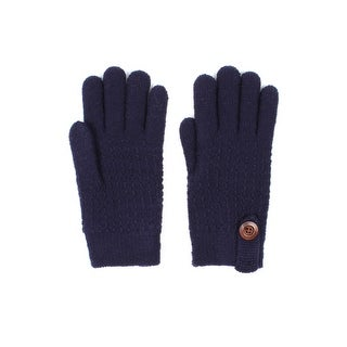 Mens Textured Dash Knit Winter Gloves Lined (Option: Beige)