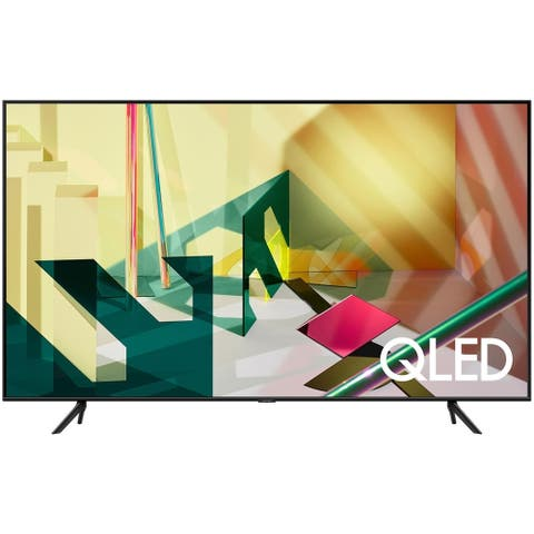 """Samsung Q70T QLED 4k 65"""" Smart LED HDR TV,Black (Refurbished) - Black - 57.1 x 32.6 x 2.3 Inches (Without Stand)"""
