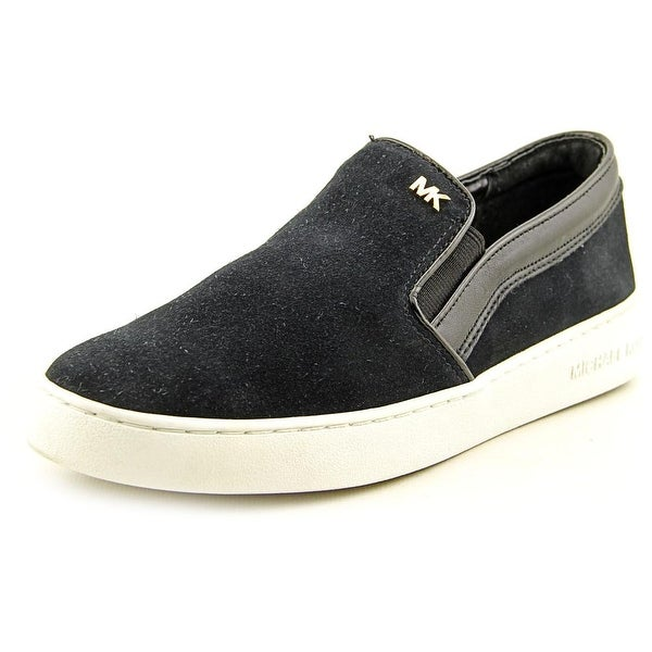 Michael Michael Kors Keaton Slip On Women Suede Black Fashion Sneakers