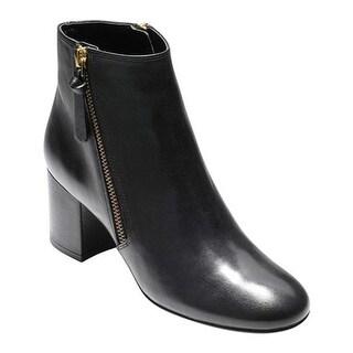 Cole Haan Women's Saylor Grand Bootie II Black Leather