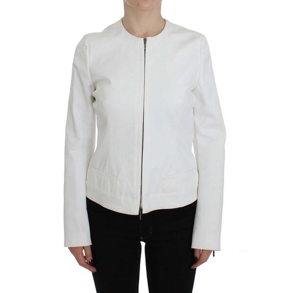 various colors 25d0f a5c59 Shop PLEIN SUD White Stretch Coat Jacket - it48-xl - Free ...