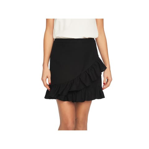 1.State Womens Mini Skirt Ruffled Above Knee