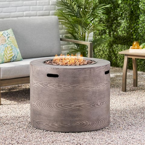 "Senoia Outdoor 31"" Outdoor 40,000 BTU Round Fire Pit by Christopher Knight Home"