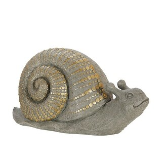 "Link to Polyresin 16"" Snail W/Gold Dots, Gray Similar Items in Accent Pieces"