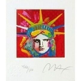 "Liberty Head IV, Ltd Ed Lithograph (Mini 3.5"" x 3""), Peter Max"
