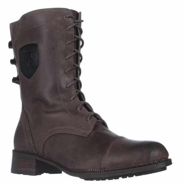 Rudsak 8213120 Mid-Calf Lace-Up Boots, Raw Khaki - 11 us / 41 eu