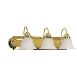 "Nuvo Lighting 60/329 Three Light Reversible Lighting 24"" Wide Bathroom Fixture from the Ballerina Collection"