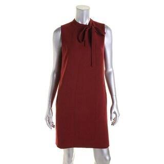 Theory Womens Nurita Crepe Solid Wear to Work Dress