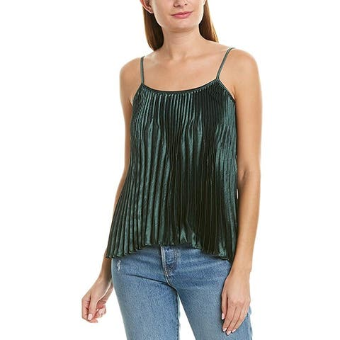 Vince Womens Green Pleated Tank Size L