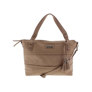Jessica Simpson Womens Vesey Satchel Handbag Faux Leather Convertible - LARGE