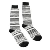 Missoni GM00CMU4658 0003 Gray/Black Knee Length Socks - Grey