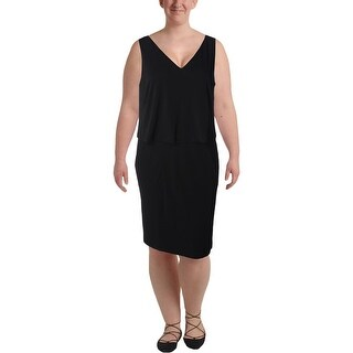 Lauren Ralph Lauren Womens Plus Casual Dress Popover V-Neck