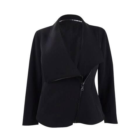 Anne Klein Women's Asymmetrical Zippered Jacket