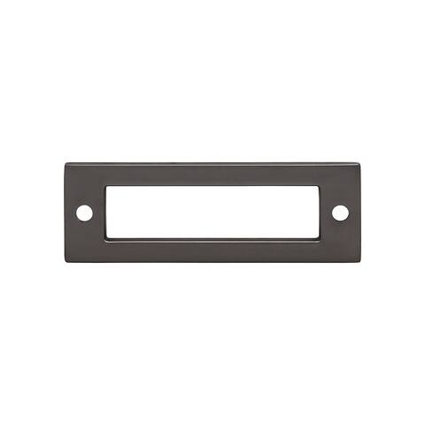 """Top Knobs TK923 Hollin 3"""" Center to Center Pull Backplate from the Lynwood Series"""