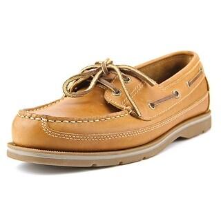Sebago Grinder Men Moc Toe Leather Tan Boat Shoe