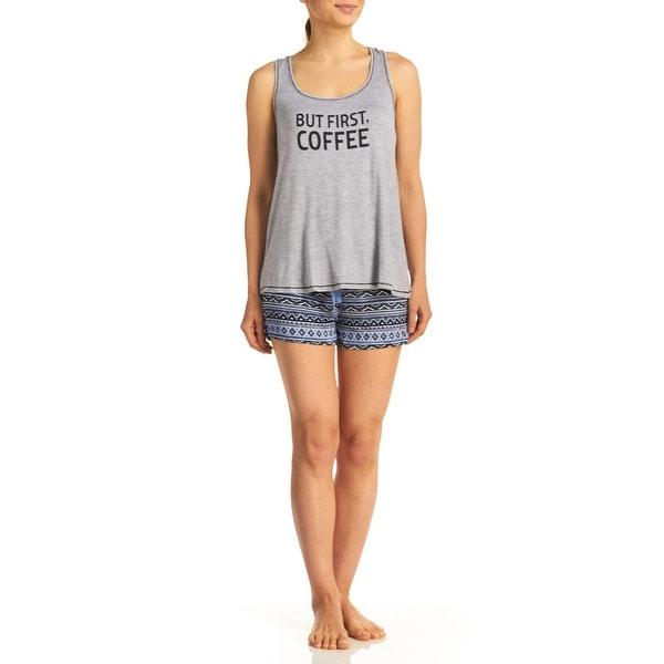 Rene Rofe Women's But First Coffee Tank/Short PJ Set