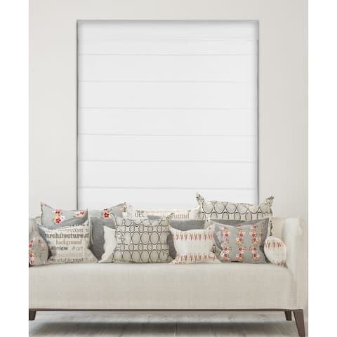 Arlo Blinds White Room Darkening Cordless Lift Fabric Roman Shades