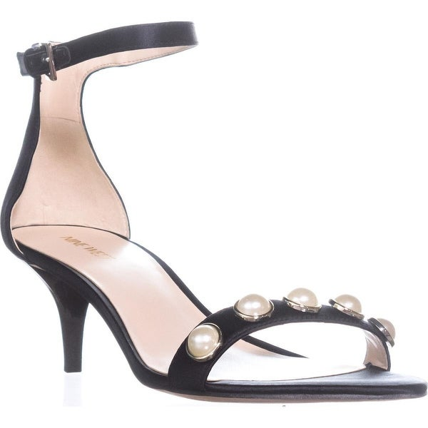 Nine West Lipstick Studded Dress Sandals, Black - 10 us