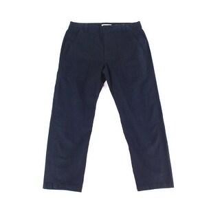 Vince NEW Blue Womens Size 12 Button-Front Capris Cropped Stretch Pants