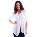 Simply Ravishing Women's Basic 3/4 Sleeve Open Cardigan (Size: Small-5X) - Thumbnail 3