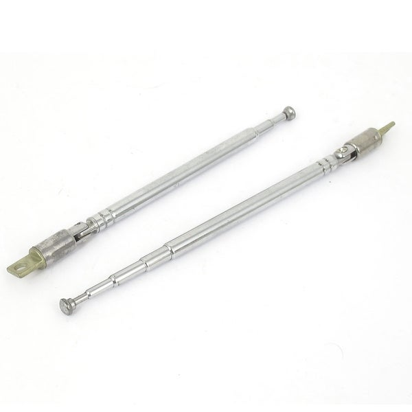 2pcs 275mm 5 Section Telescopic Antenna Mast Rod 360 Degree for RC TV Controller