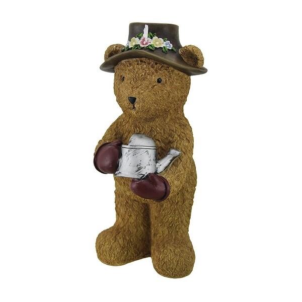 Indoor/Outdoor Garden Bear W/Watering Can Statue