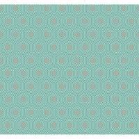York Wallcoverings GE3641 Ashford Geometrics Honeycomb Wallpaper - bright aqua/medium grey/white