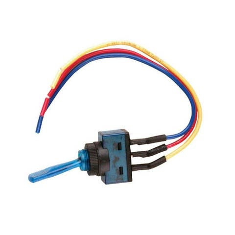 Nippon is-ec-it1220blu nippon illuminated toggle switch with 6 lead wire blue