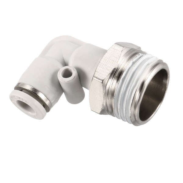 Pneumatic Push To Connect Tube Fitting Male Elbow 6mm Tube OD X 1/2BSPT Thread