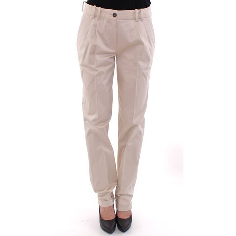 Dolce & Gabbana Dolce & Gabbana Beige Cotton Chinos Pants