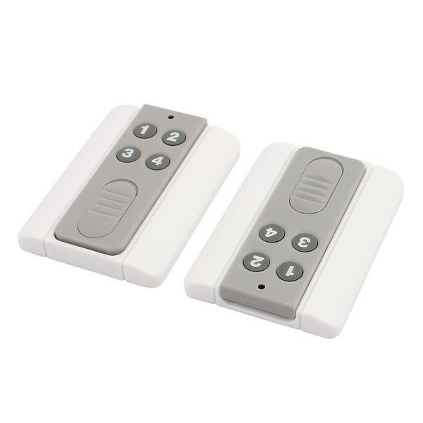 2pcs 100 Meters 4 Keys Plastic Shell Battery Powered Remote Controller w Base