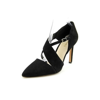 Nine West Chillice Women Pointed Toe Suede Black Heels