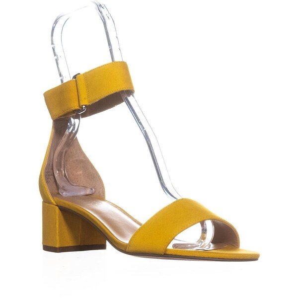 Franco Sarto Rosalina Heeled Ankle Strap Sandals, Yellow Suede