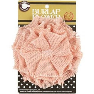 "Light Pink - Burlap Flower 4.5"""
