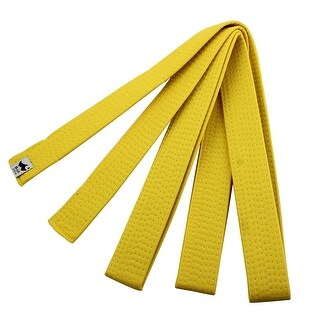 Sporty Rank Tae Kwon Taekwondo Belt Martial Arts Karate Band Yellow 220cm Length