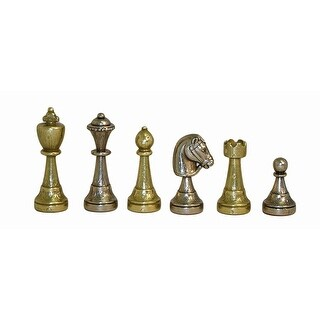 Staunton Metal Men Chess Men Set - Multicolored