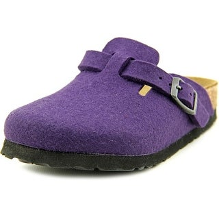 Birkenstock Boston Kids Toddler N Open Toe Canvas Purple Slides Sandal