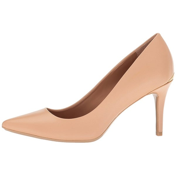 Calvin Klein Womens GAYLE Leather Pointed Toe Classic Pumps