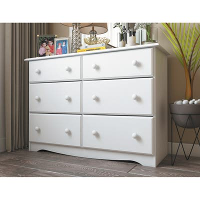 Solid Wood 6-Drawer Double Dresser by Palace Imports
