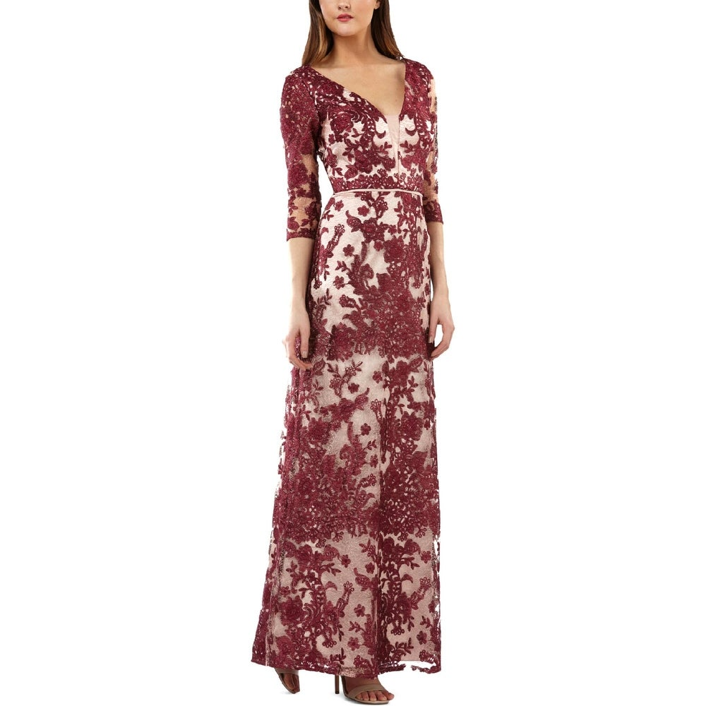 JS Collections Womens Evening Dress Lace Formal