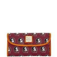 Dooney & Bourke NCAA Florida State Continental Clutch Wallet (Introduced by Dooney & Bourke at $128 in Jan 2015) - Rouge